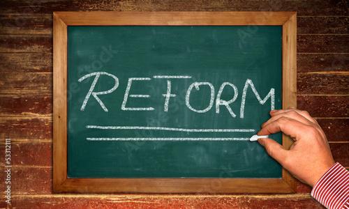 Kreidetafel - Reform