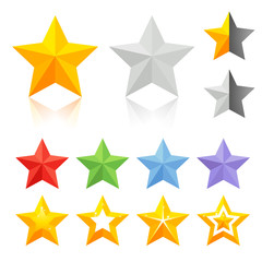 Full color star icons