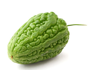 Bitter melon on white background