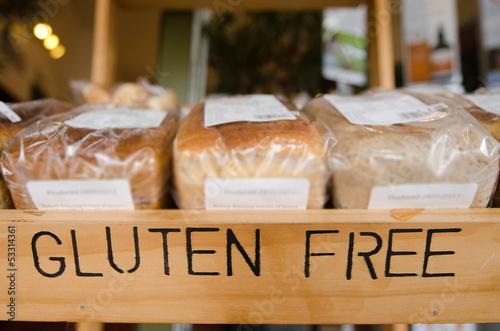 Deurstickers Boodschappen Gluten Free Products