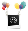Polaroid Smiley Luftballons