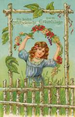 Nostalgische Geburtstagskarte