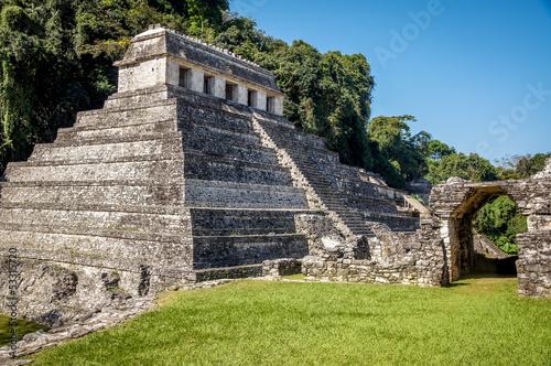 temple de palenque 4 vue de haut
