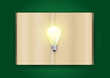 Vector book and light bulb of bright idea concept