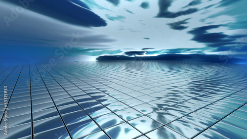 abstract background sky reflection on rectangles