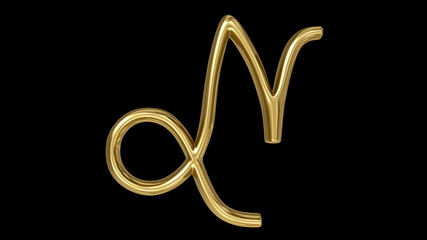 Horoscope:  golden spinning sign of the zodiac – Capricorn