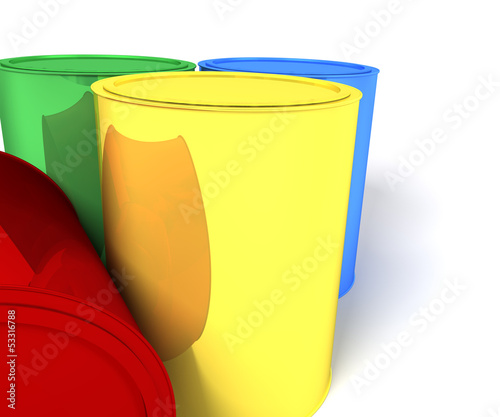 cans of paint background