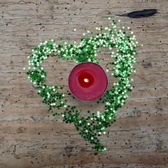 Herz und Teelicht Weihnachten