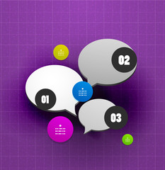 Speech bubble steps option banner template
