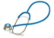 Blue stethoscope