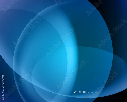 abstract blue vector background with blending colors