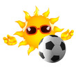 Sunshine is playing football