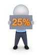 25 percents.