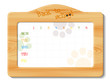school timetable in wooden frame
