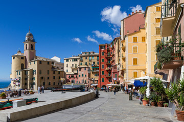 View of Camogli, Genova Italy