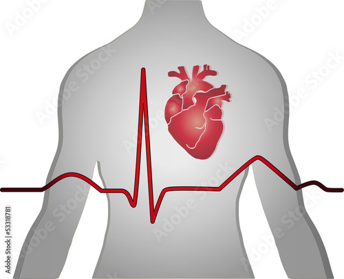 Heart EKG, medical Background