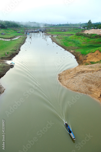 drought land and beautiful place in thailand. Sangkraburi, Kanch