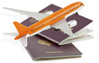 passeports, voyages par avion