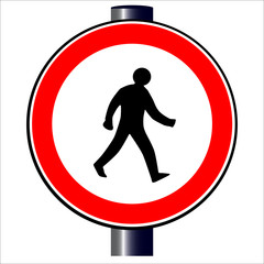 Walking Man Traffic Sign.