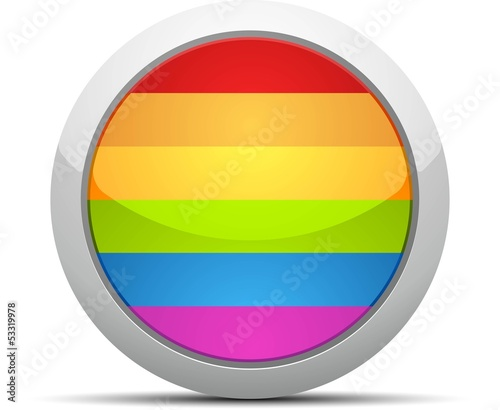 Gay Flag Circle Button