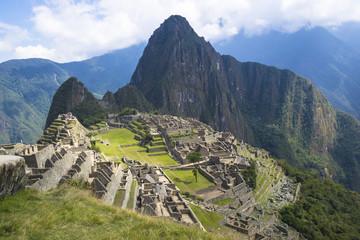 Ancient ruins of lost Inca city of Machu Picchu