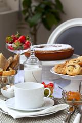 Petit déjeuner, brunch, hôtel, français, café, gâteau, pain
