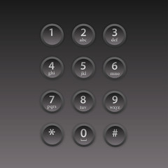 User interface keypad for phone