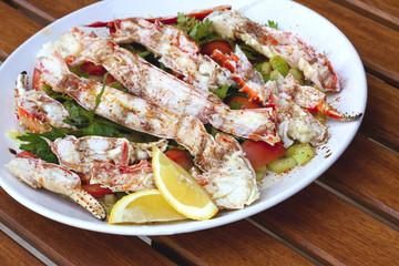 Crabe, pinces, crustacés, cuisine, gastronomie, fruit de mer