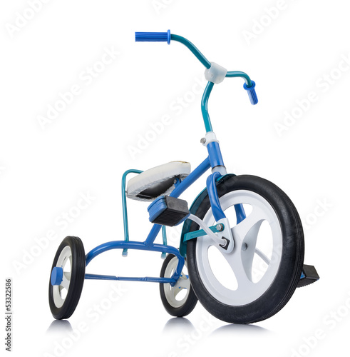 Kids bicycle on white background, isolated path included