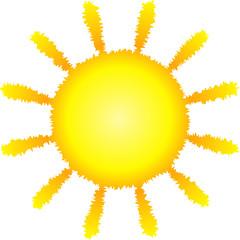 Sonne leuchtend