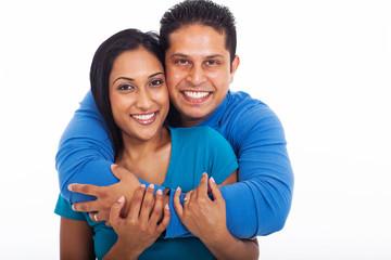 loving couple embracing