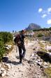 Wanderweg in den Dolomiten - Alpen