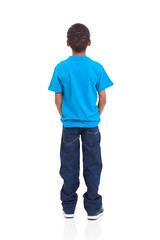 rear view of african american boy