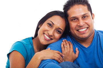 lovely indian husband and wife portrait