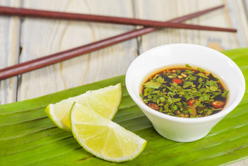 Southeast Asian dip with chilli coriander and fish sauce