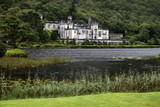 Kylemore abbey and small lake, Ireland