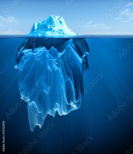 Leinwanddruck Bild iceberg