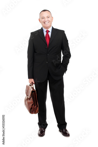 Senior businessman full length