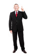 Senior businessman full length having an idea