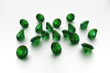 3D Emeralds - 18 Green Gems