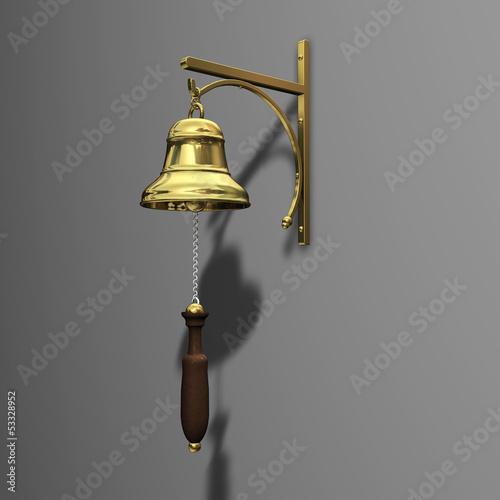 Glocke Gold Griff Wand