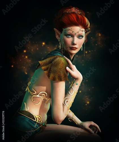 Elven Princess with Turquoise Jewelry