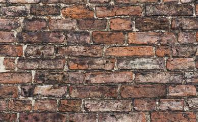close up of an old brick wall