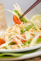 Som Tam - Green Papaya Salad. Thai & Lao Cuisine