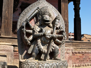 Singhini sculpture - a lioness goddess in Bhaktapur