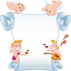 Card with cupids