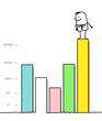 businessman & statistics chart