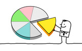 businessman & pie chart