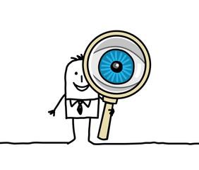 man & magnifying glass