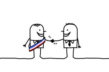 mayor handshake